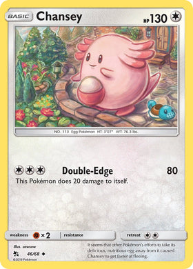 46/68 Chansey Uncommon Hidden Fates - The Feisty Lizard