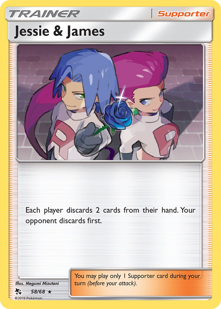 58/68 Jessie & James Trainer Holo Rare Hidden Fates - The Feisty Lizard Melbourne Australia