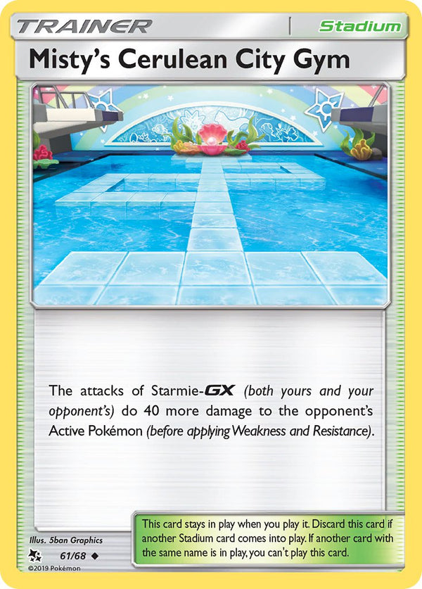 61/68 Misty's Cerulean City Gym Trainer Uncommon Hidden Fates - The Feisty Lizard Melbourne Australia