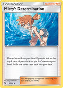 62/68 Misty's Determination Trainer Uncommon Hidden Fates - The Feisty Lizard