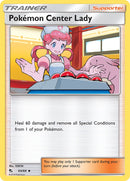 64/68 Pokémon Center Lady Trainer Uncommon Hidden Fates - The Feisty Lizard Melbourne Australia