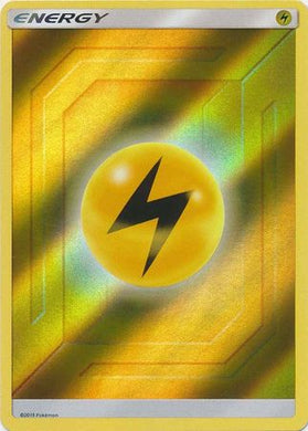 Lightning Energy Reverse Holo Hidden Fates - The Feisty Lizard