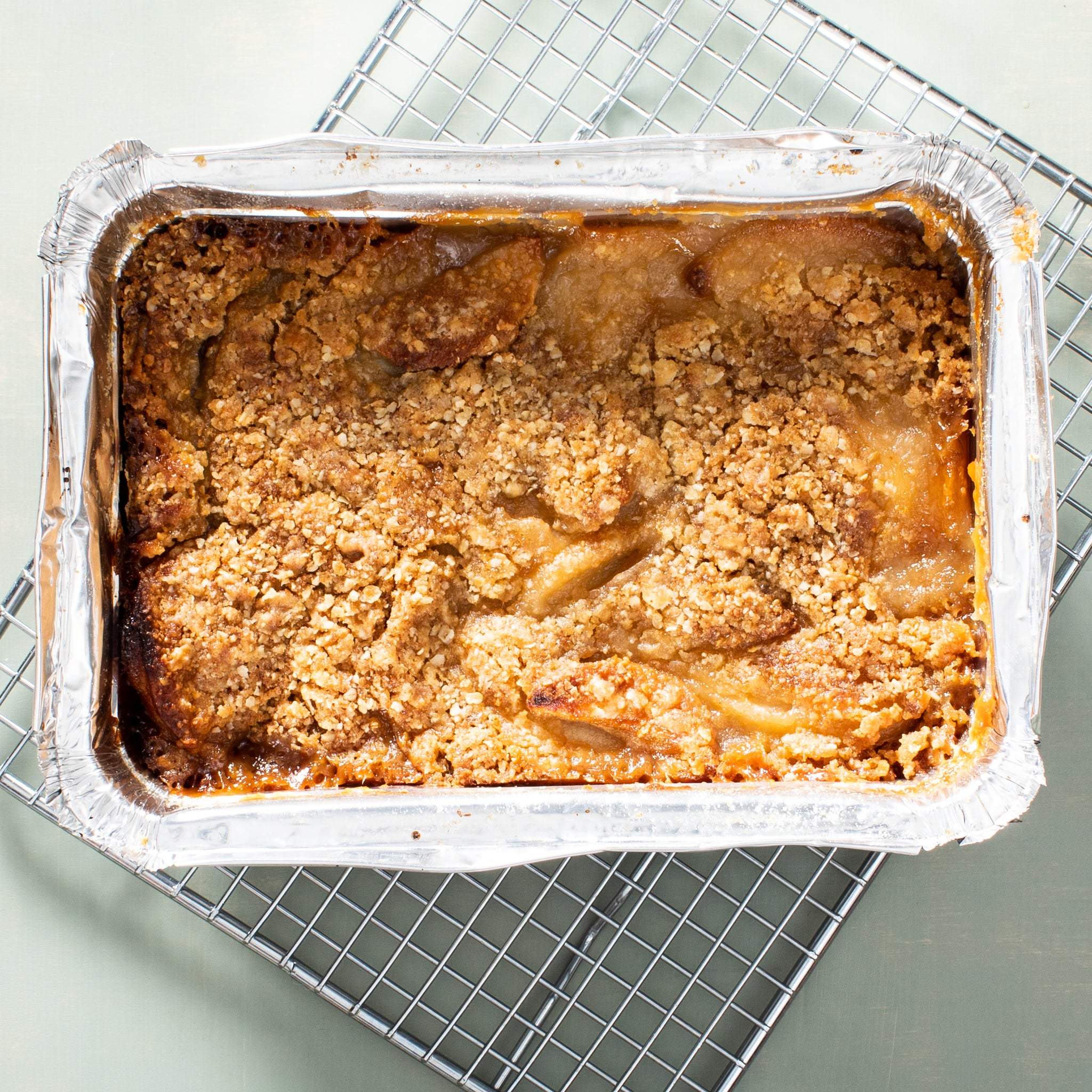 Apple + Pear Caramel Crumble