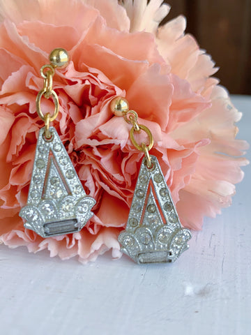 Deco Cone Flower Earrings