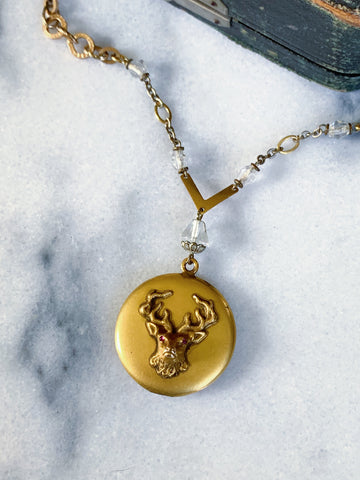 Victorian stag locket