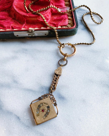Victorian horseshoe locket