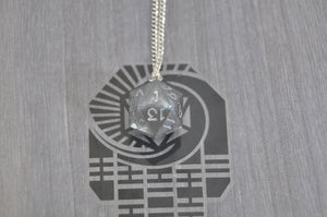 Necklace D20 Silver Lined Storm