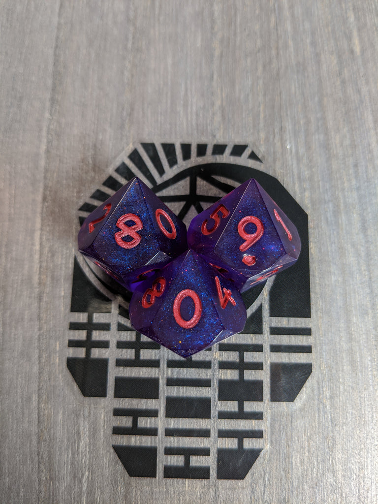 Experimental Blue with Red D10