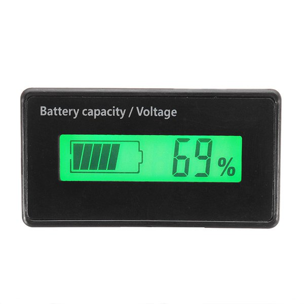 3pcs GY-6H 12V 24V 36V 48V Lead Acid Battery 2-15S Lithium Battery Capacity Indicator Voltmeter