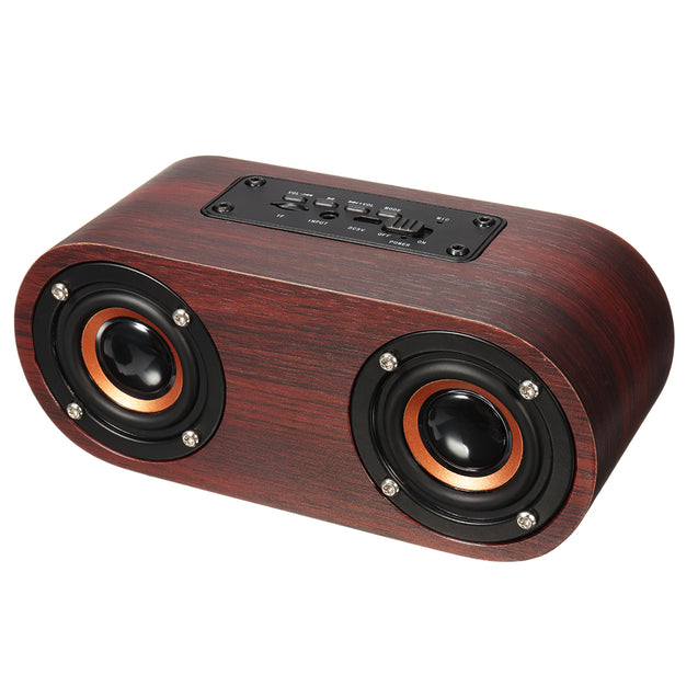 Wireless Wooden Bluetooth Speaker Loudspeaker Music Player TF USB Hand-free Call