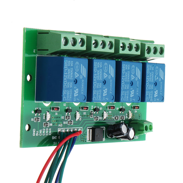 12V 4 Channels Capacitive Touch Button Switch Module With Relay And Self-locking Interlock Function