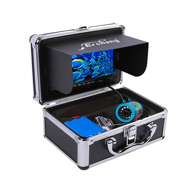 Erchang 7inch LCD Screen 1000TVL Underwater HD Camera 24LEDs Lamp Visible Fish Finder 15M