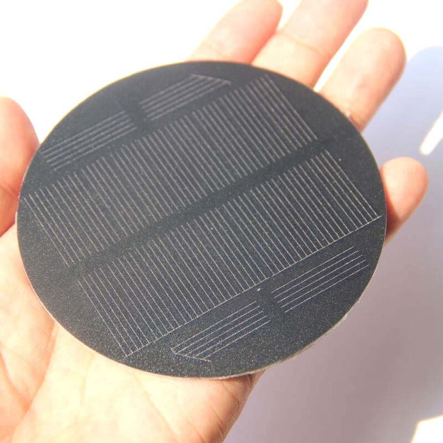 5.5V 91mm Portable Round Solar Monocrystalline Panel Outdoor Camping Lantern