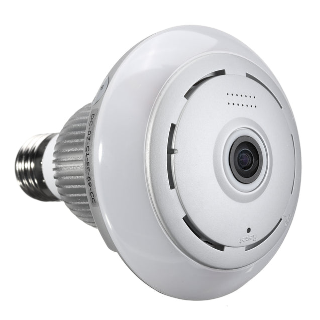 360 WiFi Wireless Panoramic 960P Fisheye Light Bulb IP Camera Lamp APP Control