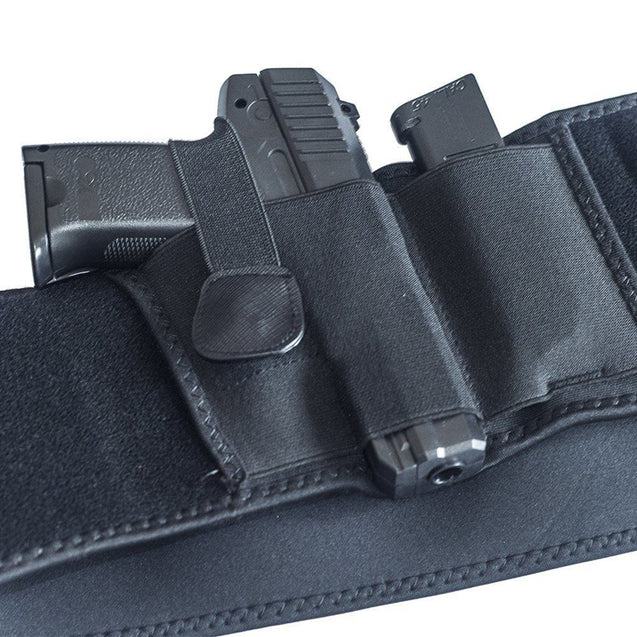 Concealed Carry Right Hand Waist Belly Band Elastic Holster Gun Holsters Magazine Pouches For Men W