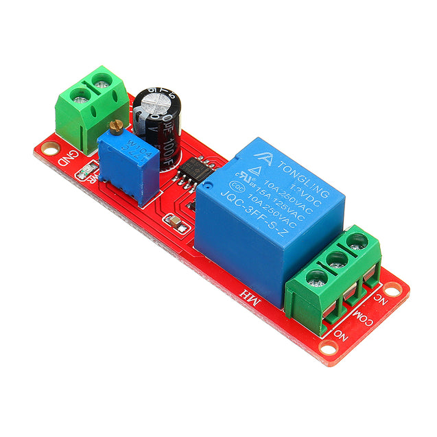 10pcs NE555 Chip Time Delay Relay Module Single Steady Switch Time Switch 12V