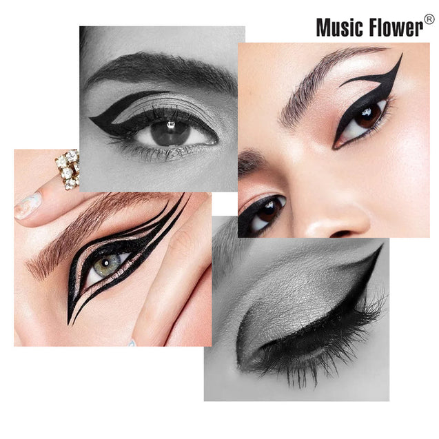 Music Flower New Auto Rotating Push up eyeliner long-wearing Water-proof Smudge-proof Eyeliner Mark Pen
