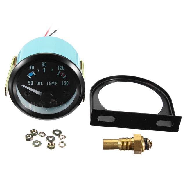 2inch 52mm 12V Universal 50-150 C Oil Temp Temperature Gauge Meter For Car Motorcycle
