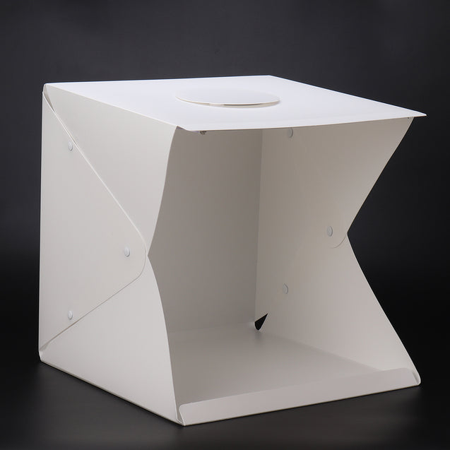 LED Studio Photo Room Photography Lighting Tent Kit Box with 4 Backdrops Clothes