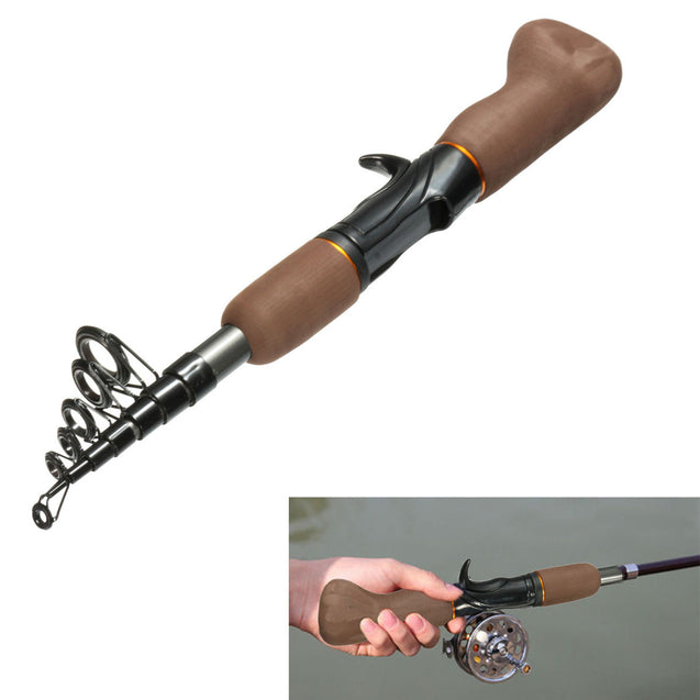 Portable Carbon Fiber Telescope Fishing Rod Travel Sea Rock Spinning Pole
