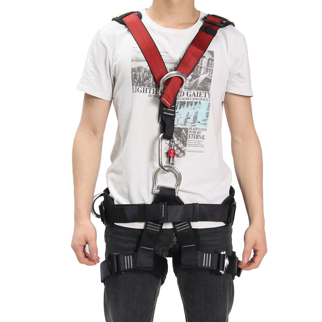 IPRee Outdoor Rescue Rock Climbing Safety Belt Sitting Bust Strap Seat Rappelling Harness