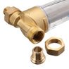 "TMOK Water Pre Filter System 3/4 & 1"" Brass Mesh Prefilter Purifier w/ Reducer Adapter"""