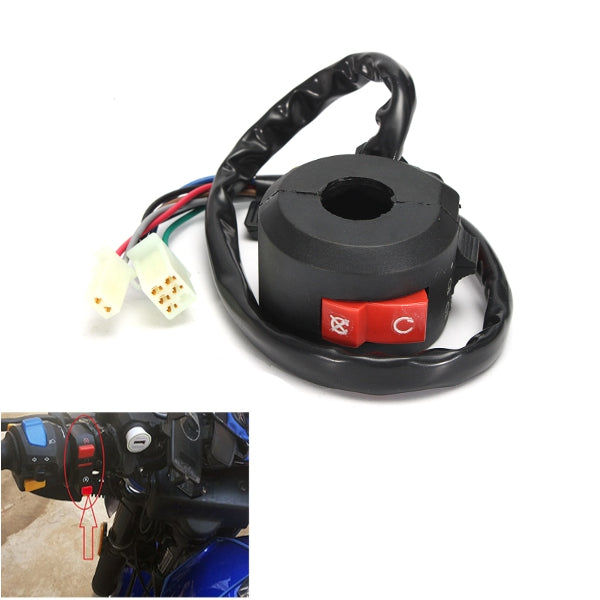 Motorcycle Starter Choke Switch Kill Light Ignition Black Inner Diameter 22mm