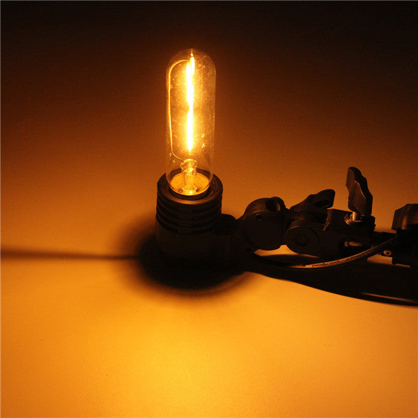 E27 T10 2W LED COB Filament Light Bulb Edison Vintage Retro Lamp AC 220V