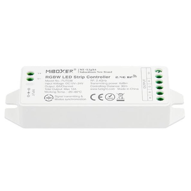 MiBOXER FUT038 (Upgraded) RGBW LED Strip Controller DC12V-24V Compatible with APP/RF Remote/Third Party Voice Control