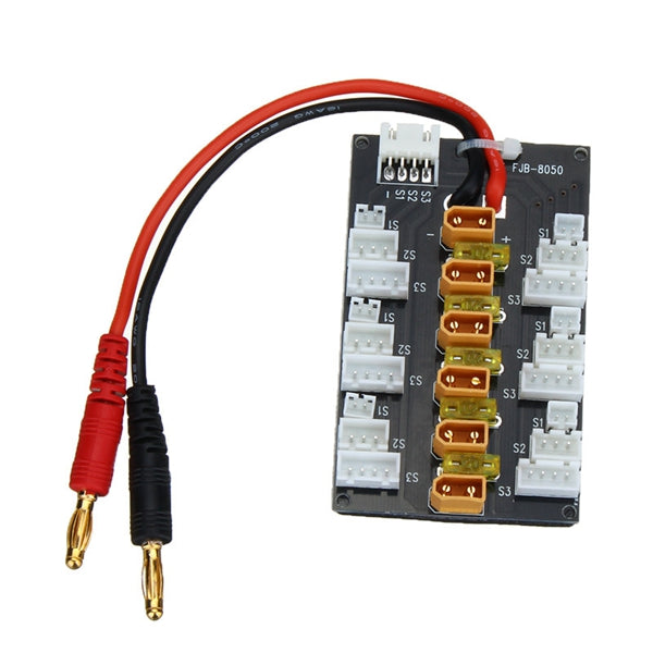 5pcs 1S-3S XT30 LiPo Battery Parallel Charging Adapter Expansion Board With Balanced Cable Plug