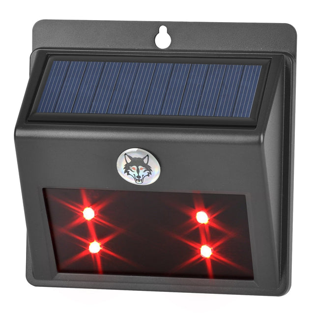 Solar Powered LED Animal Repeller Red Light Wall Lamp for Garden Pasture Fence