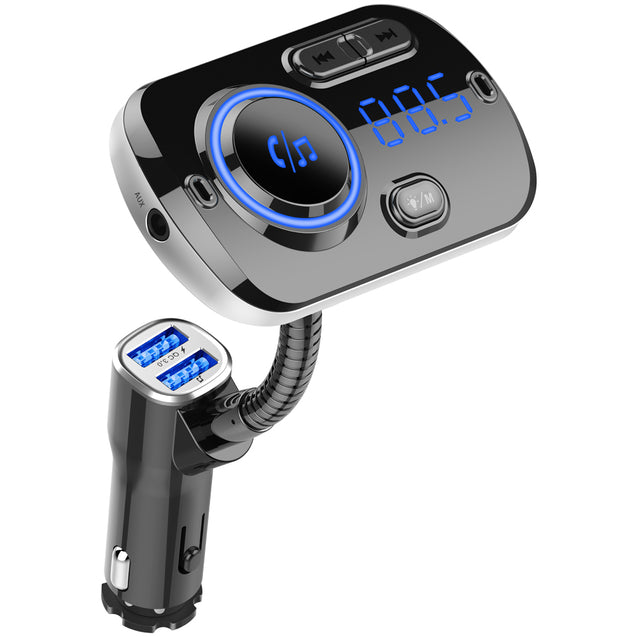 BC49AQ QC3.0 bluetooth FM MP3 Player Handsfree Voice Control Car Charger