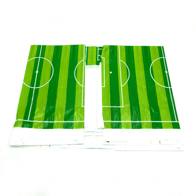 1.8x1.08m Tablecloth Football Print Table Cover Camping Disposable Plastic Picnic Mat