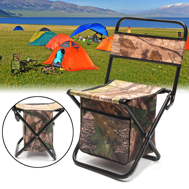 Outdoor Camping Folding Chair Portable Durable With Storage Bag Fishing Hiking Picnic Chair