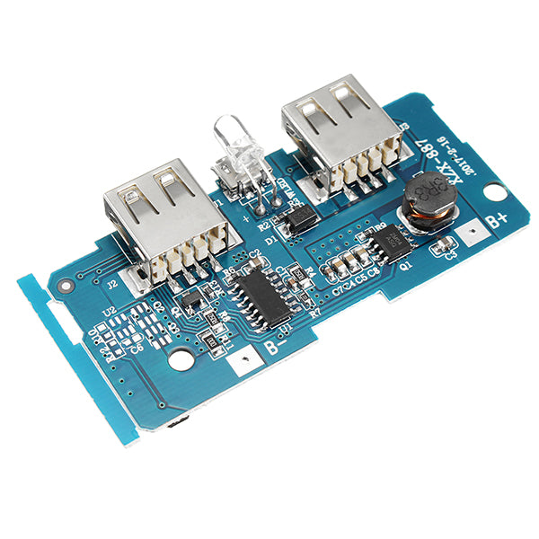 3.7V To 5V 1A 2A Boost Module DIY Power Bank Mainboard Circuit Board Built In 18650 Lithium Battery