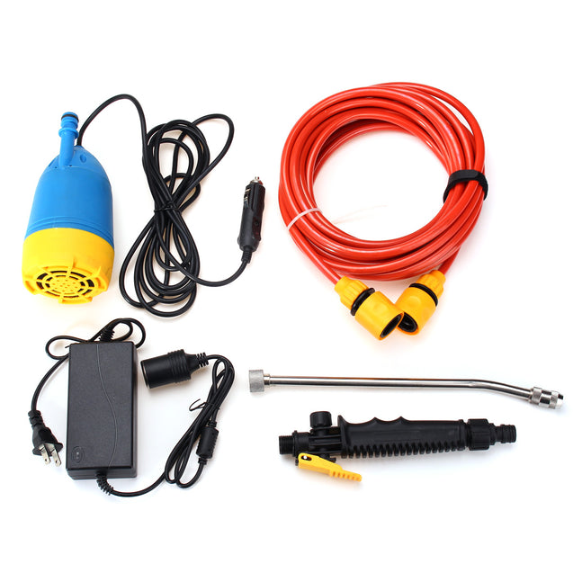 12V 80W High Pressure Car Washer Kit Water Wash Pump Car Camper Van Sprayer Suit