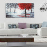 Red Forest Canvas Modern Home Wall Decor Art Paintings Picture Print Unframed