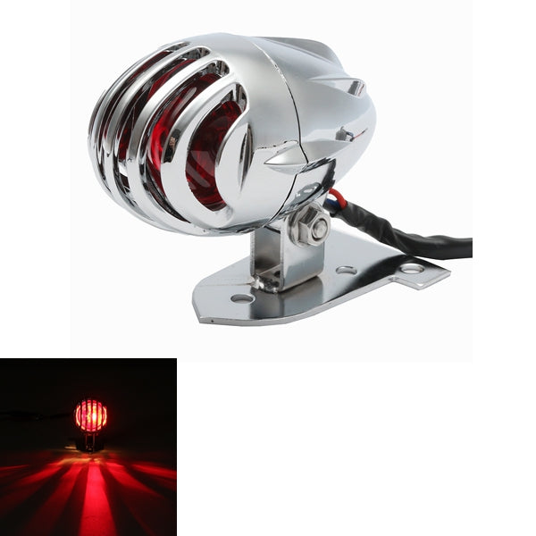 Motorcycle Chrome Rear Tail Brake License Light For Yamaha Bobber Chopper Harley