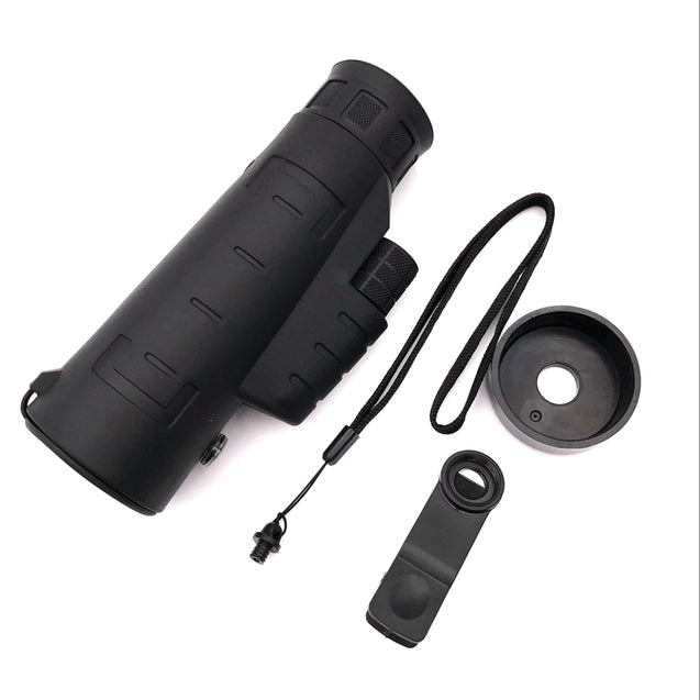 JINJULI 40x60 HD Mobile Telescope with Compass Portable Handheld Night Vision Low Light Binoculars