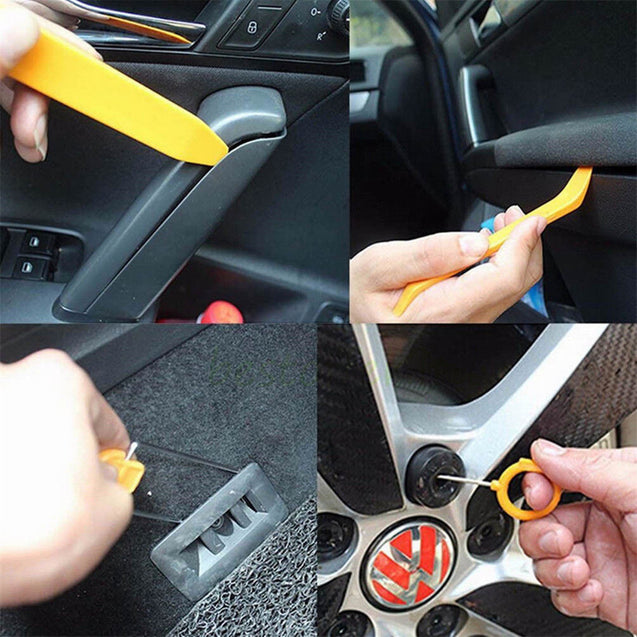 12PCS Car Panel Trim Audio Stereo Dash Refit Molding Remove Install Pry Tool Kits