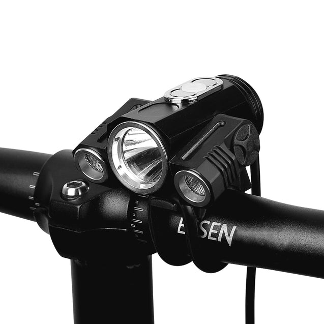 XANES 360 Rotation 400 LM Waterproof Bike Light T6+2XPE 4 Modes Head Lamps Handfree Aluminum Alloy