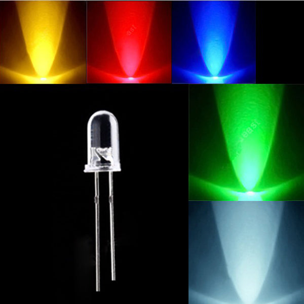 10pcs 5mm 3000-6000mcd LED Bright Decoration Torch Toy Light White