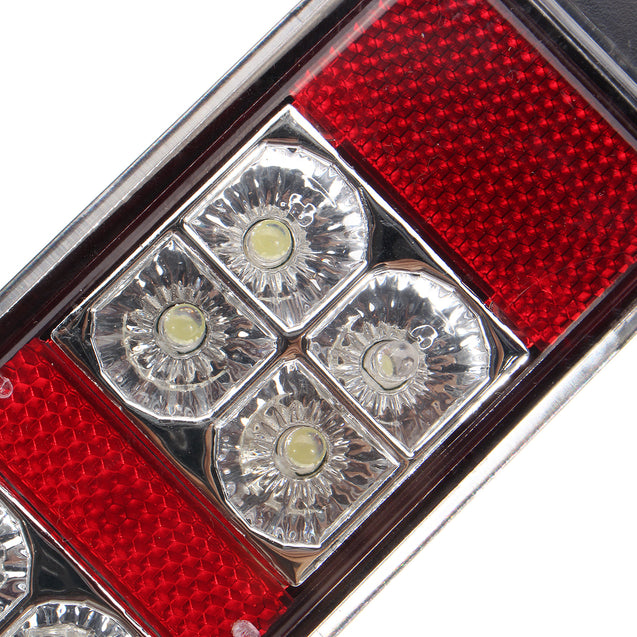 2pcs 12V 14LED Three Color Car Rear Tail Lights Bake Stop Turn Lamp for Tailer Truck Boat Caravans