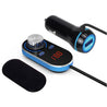 Car bluetooth Fm Transimittervs Hands Free Kit LCD USB Car Charger For Iphone Samsung
