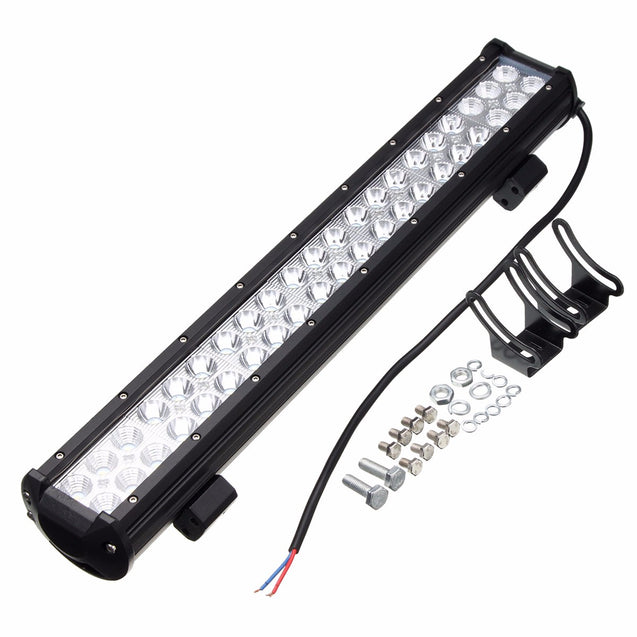 20Inch LED Work Driving Light Bars Spot Flood Combo Beam 126W for Jeep Off Road SUV ATV