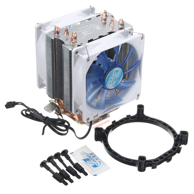 92mm 3 Pin Blue LED Copper CPU Cooler Cooling Fan Heat Sink for Intel LGA775/1156/1155 AMD AM2/2+/3
