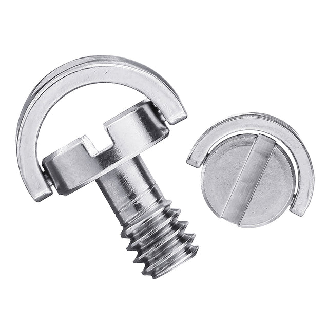 3pcs LS004 BEXIN 1/4 Inch Stainless Steel C-ring Screw for Camera
