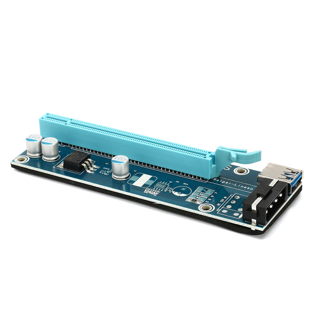 PCIE PCI-E Express 1x To 16x Extender Riser Card Adapter 15Pin Power USB 3.0 Expansion Mining