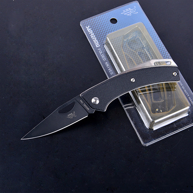 Sanrenmu 155mm Stainless Steel Mini Folding Knife Multifunction Outdoor Fishing Survival Knife