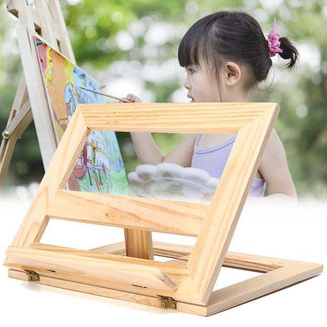 Durable Wooden Easel Foldable Display Stand Reading Bookshelf Bracket Art Painting Drawing Board